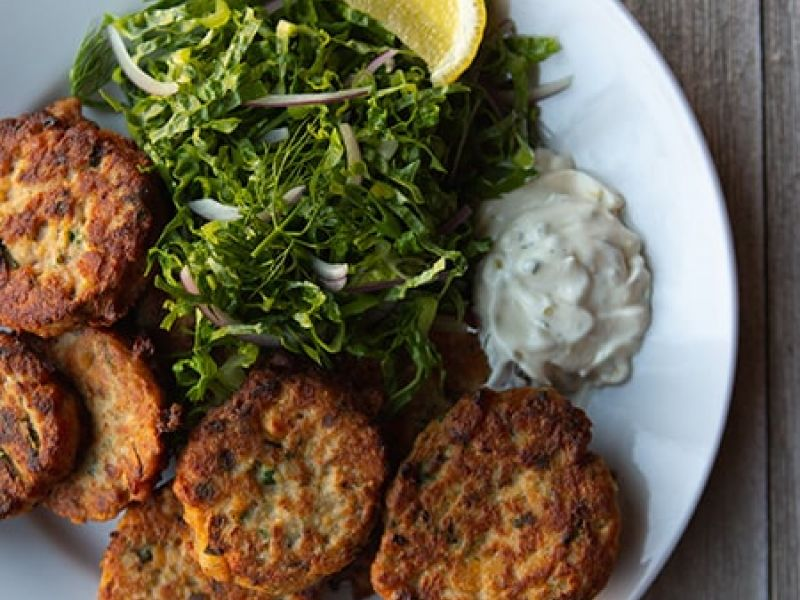 Chickpea & Tuna Fritters