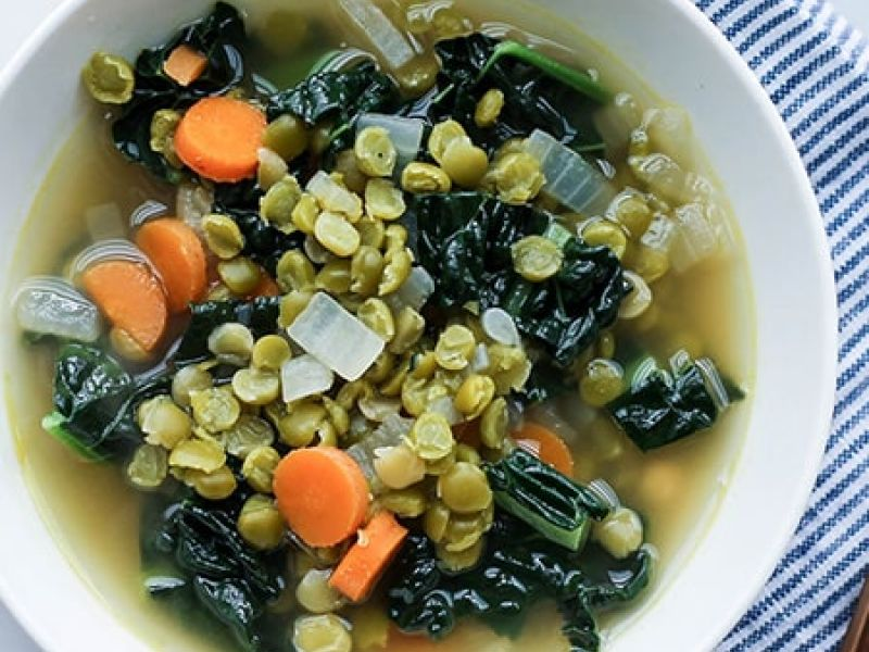 Split Pea and Kale Soup