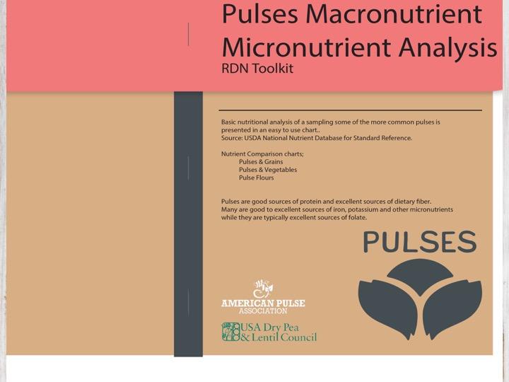 2 - Pulses Macronutrient Micronutrient Analysis