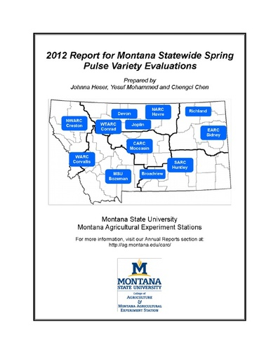 2012 Variety Trails - Montana State University