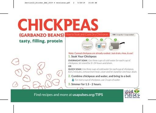 Chickpeas Sticker (Bag)