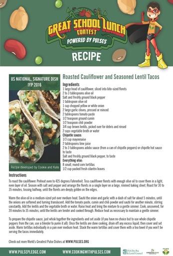 Cauliflower lentil tacos 1