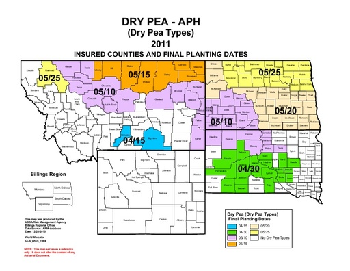 2011 Dry Pea Northern Tier insurance