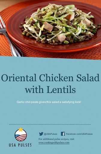 Oriental Chicken Salad with Lentils