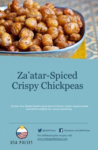 Za'atar-Spiced Crispy Chickpeas