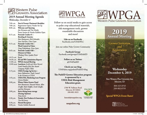 2019 WPGA Annual Meeting Invitation