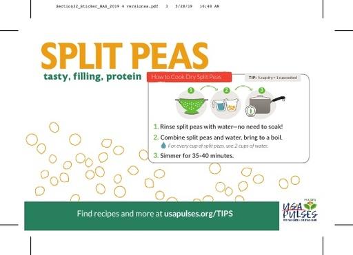Split Peas Sticker (Bag)