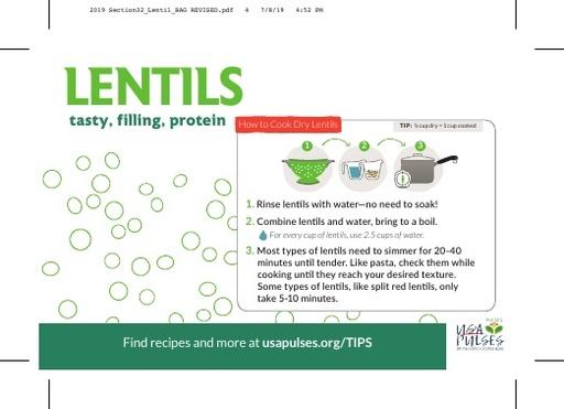 Lentils Sticker (Bag)