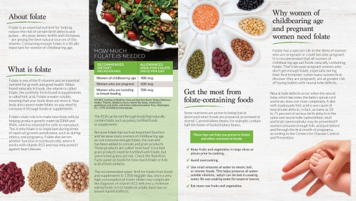 Folate Brochure - Reasons to Eat Pulses (Page 2)