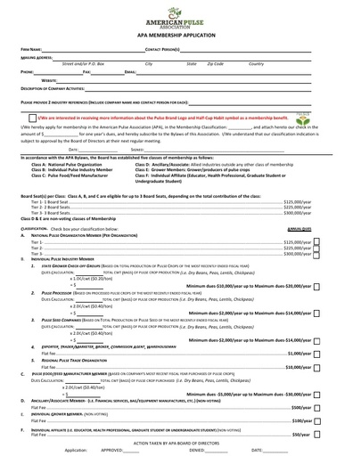 2019 APA Membership Application Form