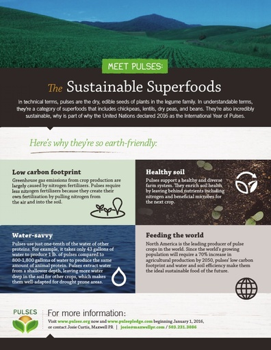 Meet Pulses: The Sustainable Superfoods