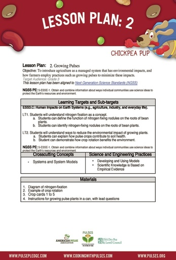 Pulse Curriculum Lesson 2 - Grade 3 page 1