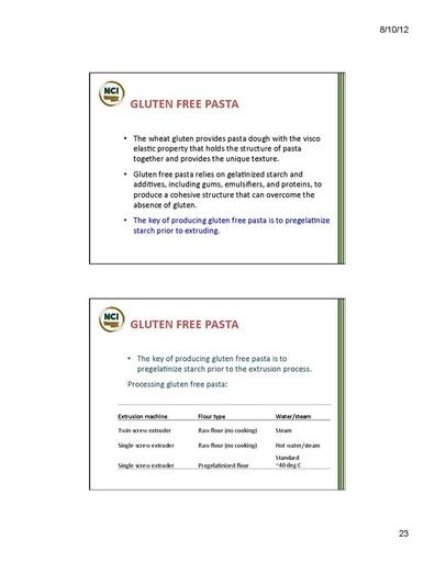 Gluten Free Pasta - Page 1