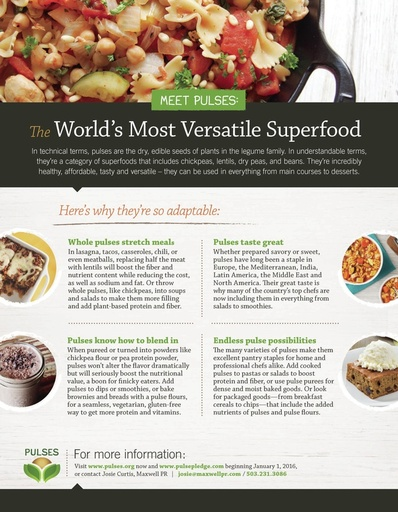 Meet Pulses: The World's Most Versatile Superfood