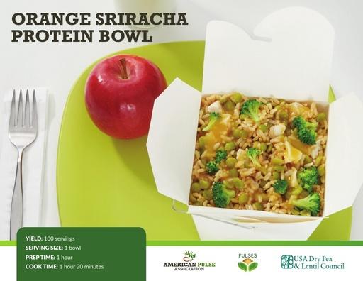 Orange Sriracha Protein Bowl