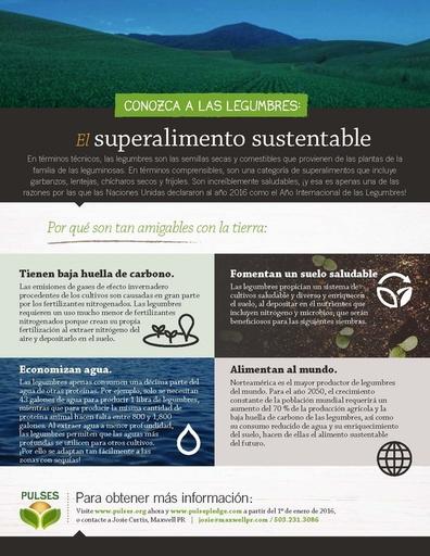Conozca a las Legumbres: El Superalimento Sustentable